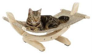 hamaca madera gato
