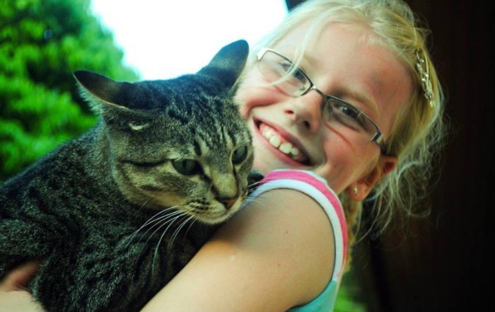 cómo presentar un gato a tus hijos